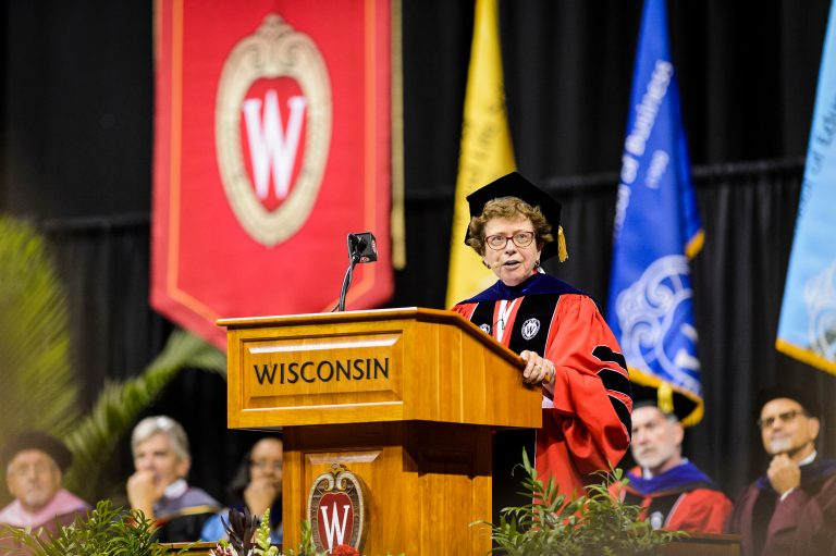 Chancellor Rebecca Blank speaks at Convocation